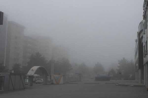 Diyarbakır yeni yılı sisle karşıladı