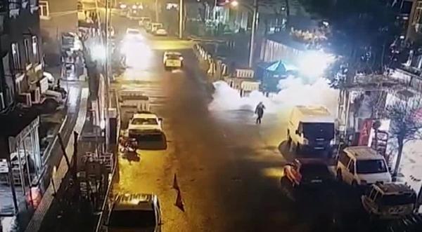 Emniyet Müdürlüğüne yapılan EYP'li saldırı kamerada