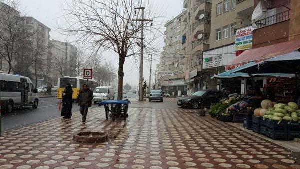 Diyarbakır'da kar yağışı