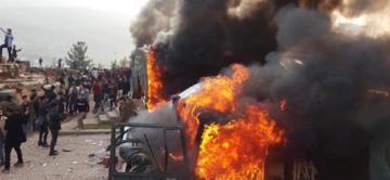 Video Haber: Türkiye'ye ait askeri üs yakıldı