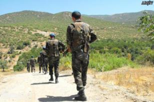 Sınırda devriye gezen askeri araca saldırı