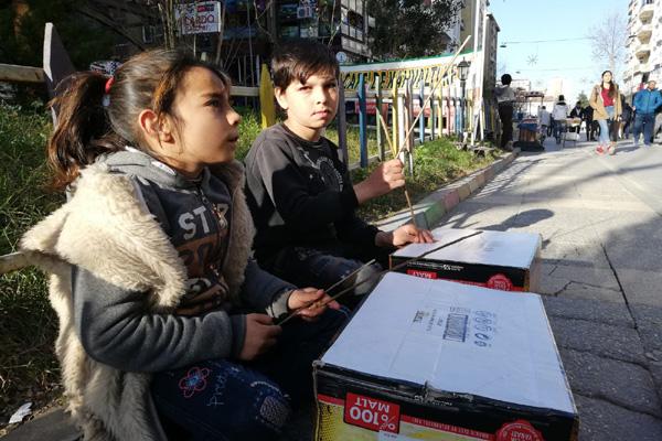 Video Haber: Sanat Sokağı'nın küçük sanatçıları