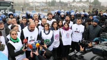 'Leyla Güven' yürüyüşü tamamlandı