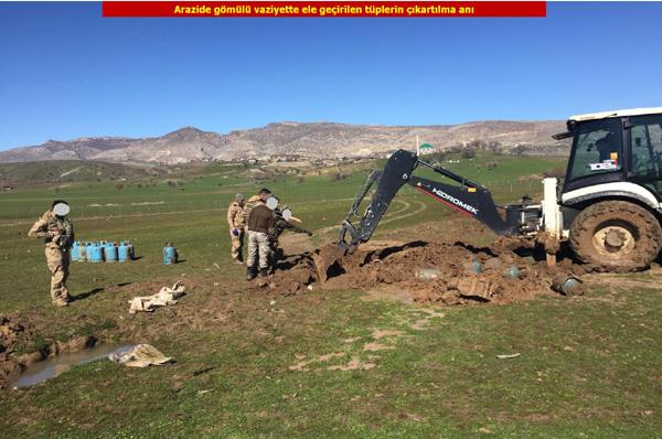 Video Haber: Toprağa gömülü 75 dolu tüp bulundu