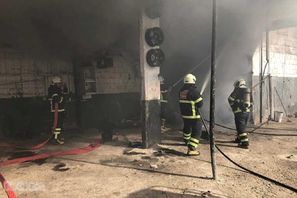 Video Haber: İş yerinde çıkan yangın eşyaları kül etti