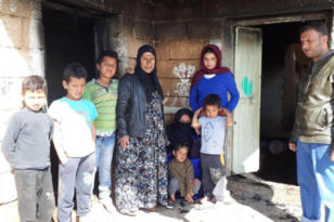 Suriye Savaşı'ndan kaçan aile yardım bekliyor