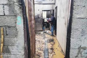 Evi yanan mağdur aile yardım bekliyor