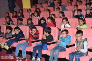 Çocuklar sinema ile tanıştı
