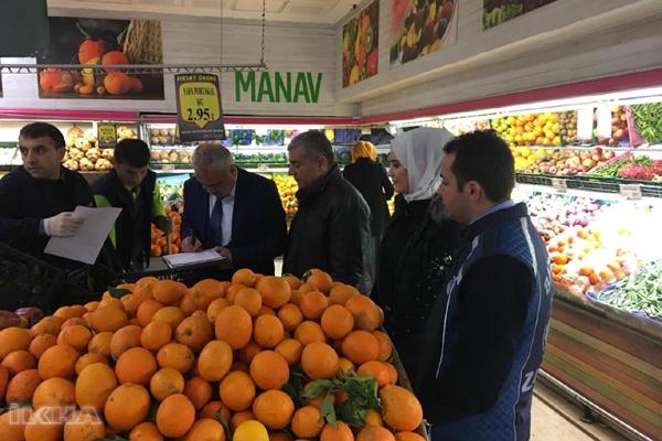 Sebze ve meyve fiyat denetimleri devam ediyor