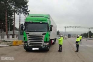 271 ağır taşıt trafikten men edildi