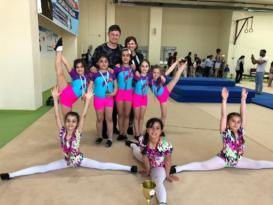 Minik cimnastikçilerden başarı