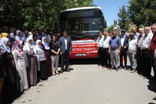Bismil'de ücretsiz hastane servisi başladı
