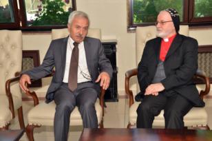 Mardin Metropoliti Özmen'den Mızraklı'ya ziyaret