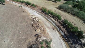 Çermik sulama kanalı onarılıyor