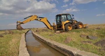 Sulama kanalı onarıldı