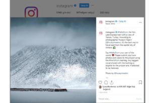 Instagram uygulaması resmi hesabında Tatvan fotoğrafını paylaştı
