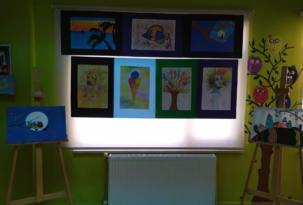Çocukların hayal gücü resimlere yansıdı