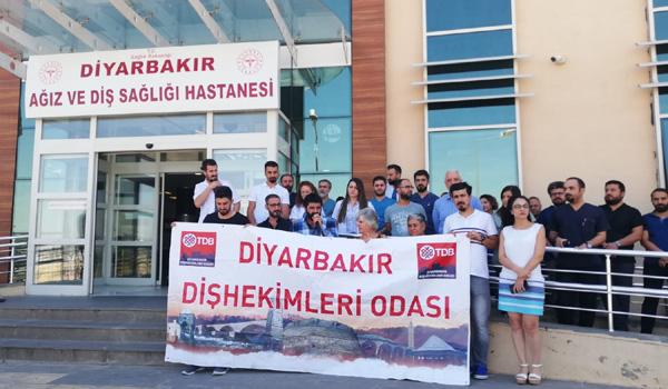 Video Haber: Diş hekimine saldırı Diyarbakır'da protesto edildi