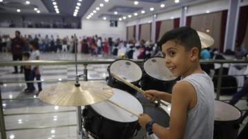 Erganili 10 yaşındaki baterist