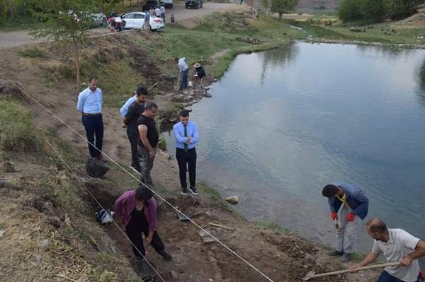 Erzen antik kenti ve balıklıgölde arkeolojik kazı çalışmaları sürüyor