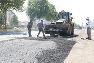75 Metrelik Yol'a 3 bin ton sıcak asfalt serildi