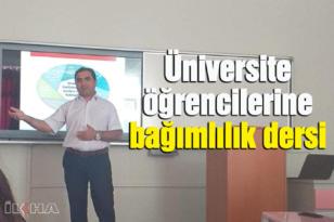 Dicle Üniversitesi'nde bağımlılık konulu seminer verildi