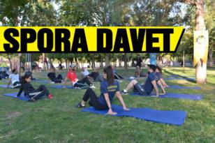 Kentteki dört farklı parkta sabah sporu etkinliği