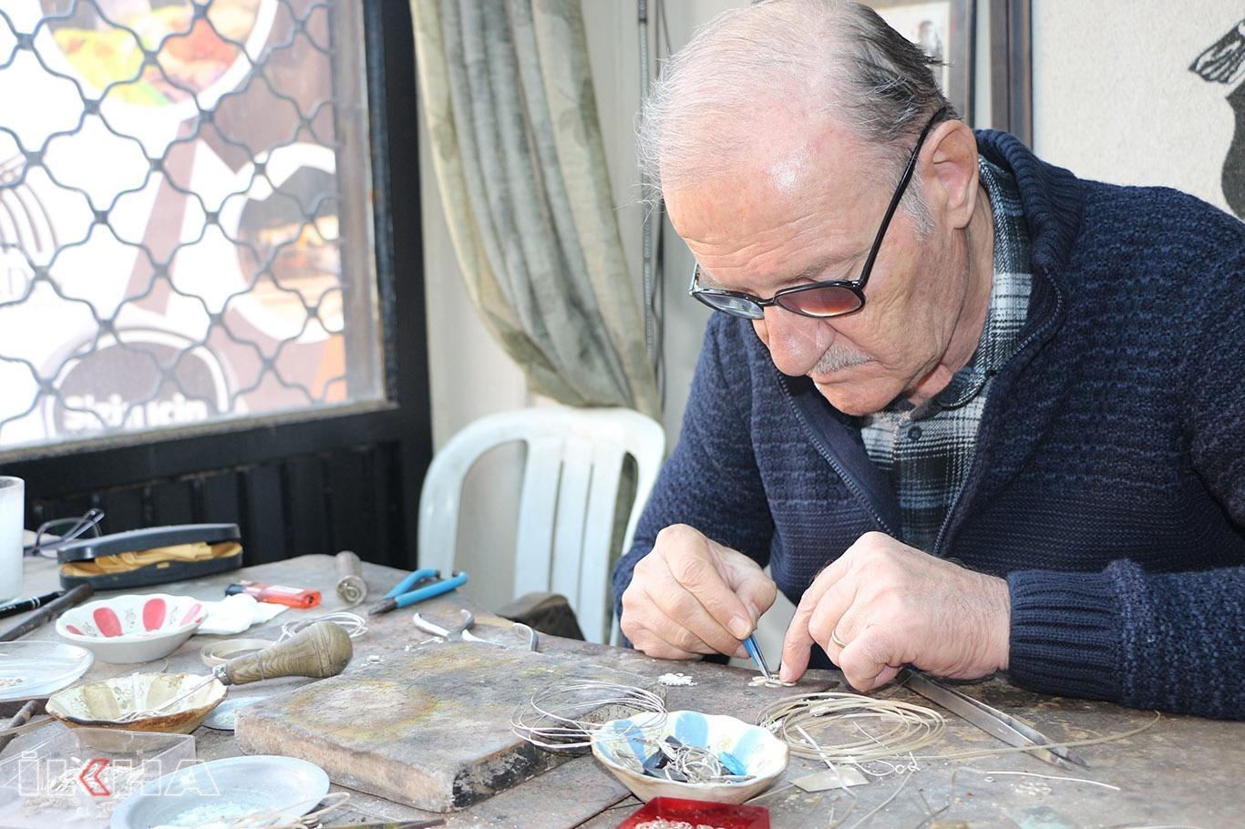 VİDEO HABER – Hayatının 65 yılını telkâri sanatına verdi