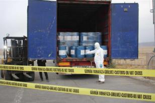 18 ton siyanür ele geçirildi