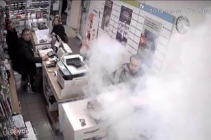 VİDEO HABER – Bataryanın patlama anı kamerada