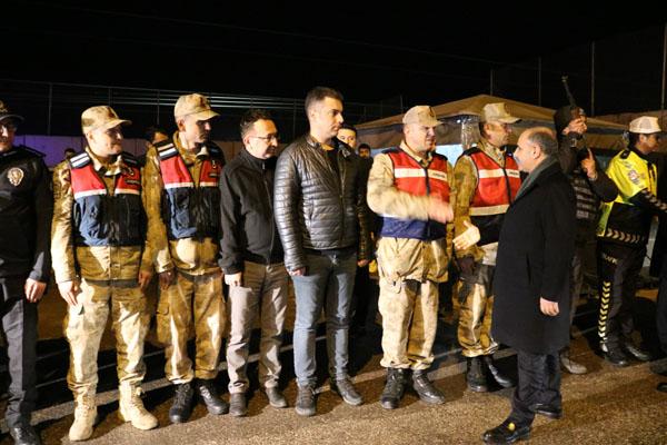 Aktaş, Diyarbakır'da uygulamaya katıldı