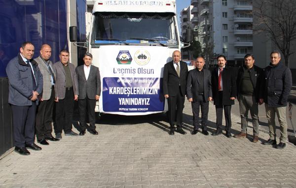 Diyarbakır'dan Elazığ'a yardım seferberliği