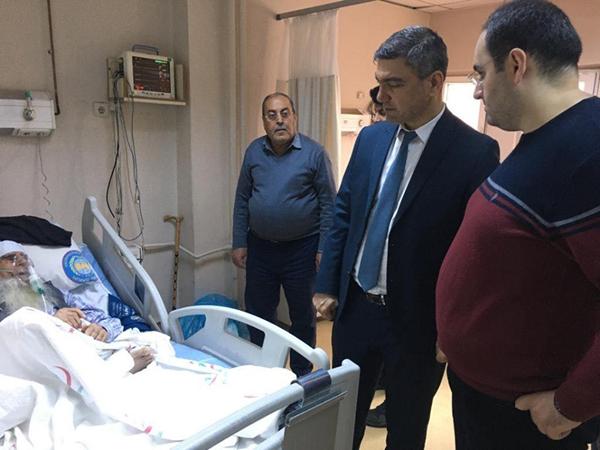 Başhekim Özkul'dan hasta ve personele moral ziyareti