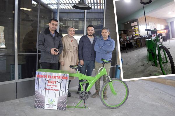 Elektrik üreten bisiklet yaptılar!