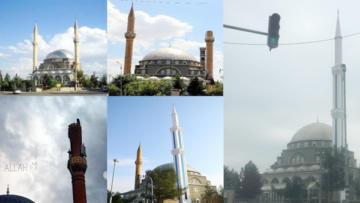Yenisi orantısız olunca caminin taş minaresi yıktırıldı