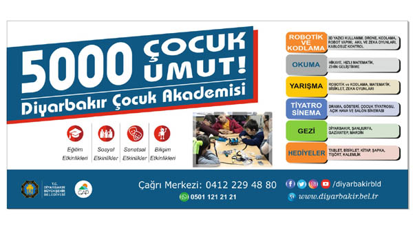 'Diyarbakır Çocuk Akademisi Projesi' başladı