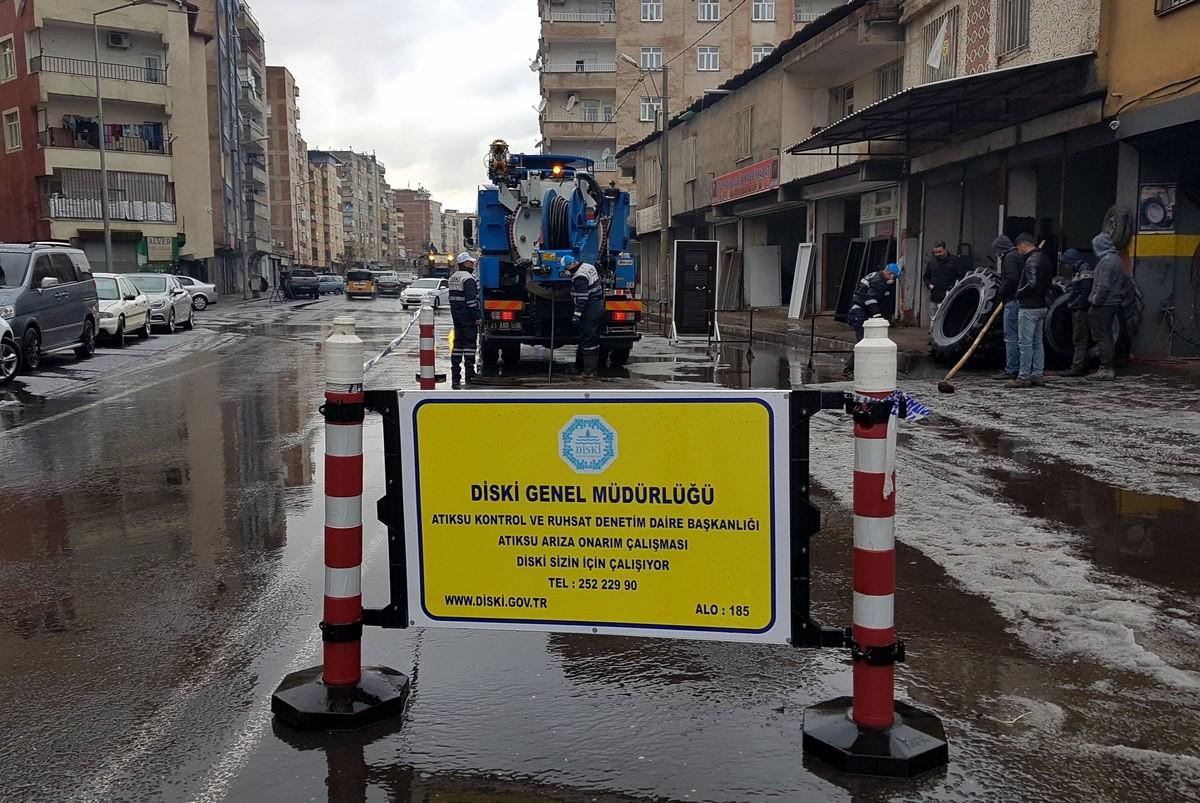 DİSKİ'den kanalizasyon sorunlarına anında müdahale