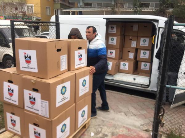 Büyükşehir Belediyesi'nden Elazığ'a gıda yardımı