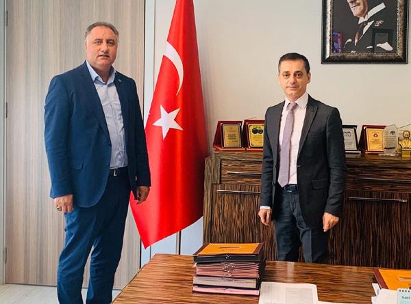 Ensarioğlu'ndan İl Sağlık Müdürü Tekin'e ziyaret