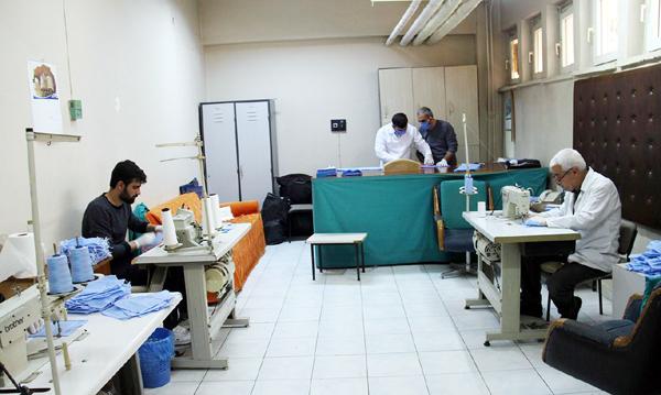 VİDEO HABER – Selahaddin Eyyübi de maske üretimine başladı