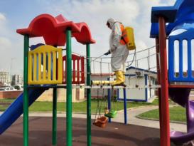 Çocuk oyun parklarında korona virüs önlemi