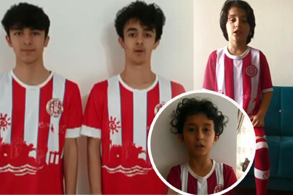Sporcu çocuklardan 'Evde kal Türkiye' çağrısı