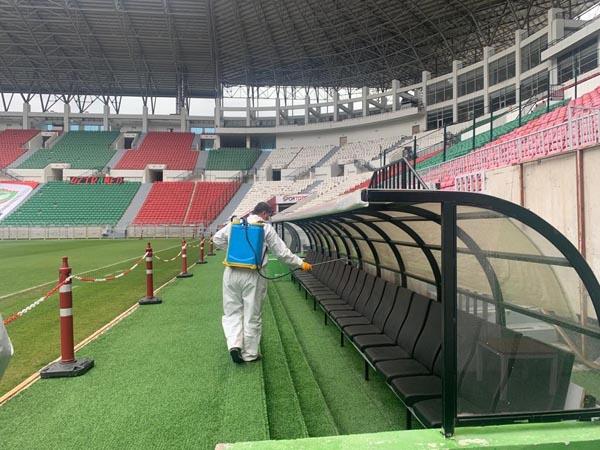 Yeni Diyarbakır Stadyumu dezenfekte edildi