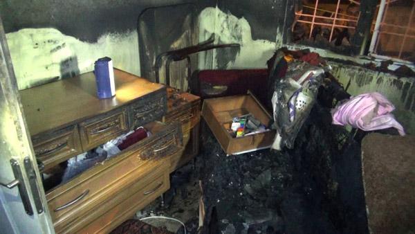 Çıkan yangında 2 çocuk yaralandı