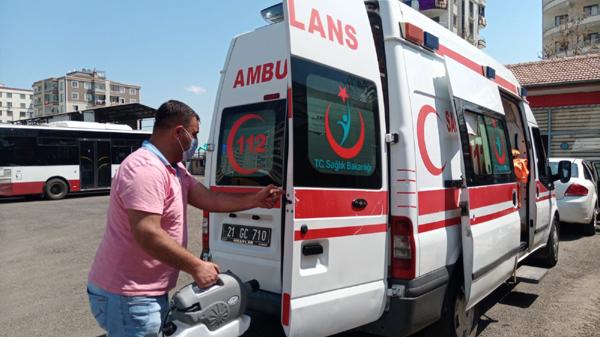 Ambulans, otobüs ve kamu araçları dezenfekte ediliyor