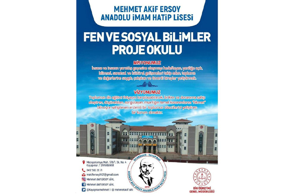 VİDEO HABER – Mehmet Akif Ersoy Anadolu İmam Hatip Lisesi proje okulu oldu