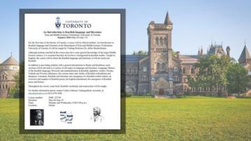 Toronto Üniversitesi'nde Kürt Dili eğitimi