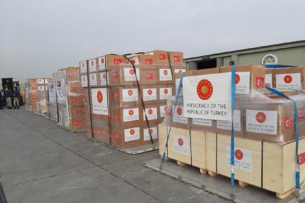 Türkiye'den 53 ülkeye tıbbi malzeme yardımı yapıldı