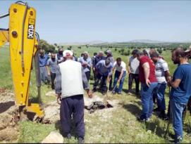 Su kuyusunda mahsur kalan atı belediye ekipleri kurtardı