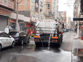 Bağlar'da cadde ve sokaklar dezenfekte edildi